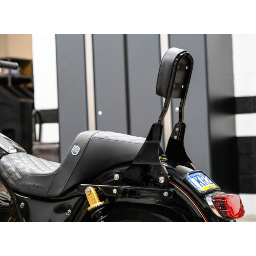 "Boosted Brad 13"" Quick Detach Sissy Bar Kit for Harley FXR - Gloss Black"