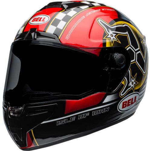 Bell SRT Helmet - Isle of Man 2020 Gloss Black/Red