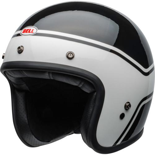 Bell Custom 500 Helmet - Streak Gloss Black/White