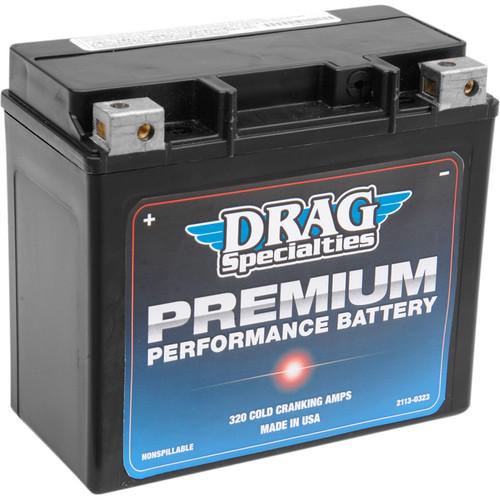 Drag Specialties Premium Performance Battery for Harley - Repl. OEM #65991-82B