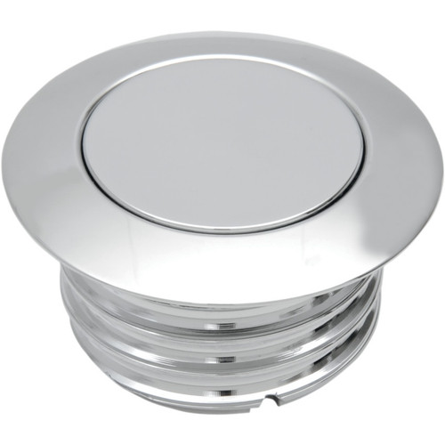 Drag Specialties Vented Pop-Up Gas Cap for 1996-2019 Harley - Chrome
