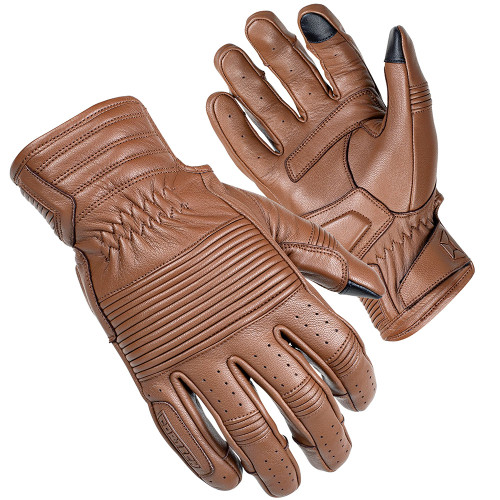 Cortech Associate Mid-Length Cuff Leather Gloves - Brown