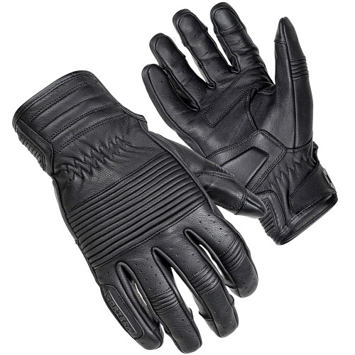 Cortech Associate Mid-Length Cuff Leather Gloves - Black
