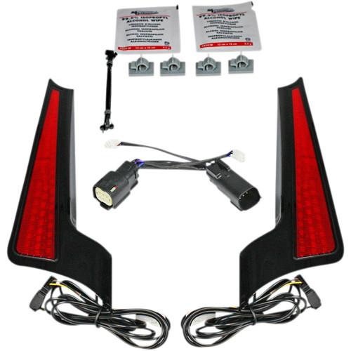 Custom Dynamics Fascia LED Panels for 2014-2020 Harley Touring - Black