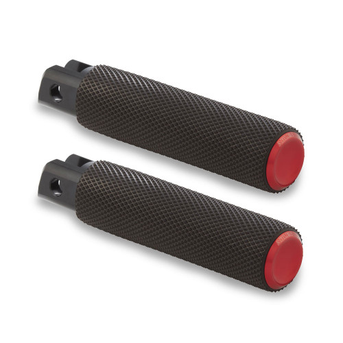 Arlen Ness Knurled Fusion Foot Pegs for Harley - Red