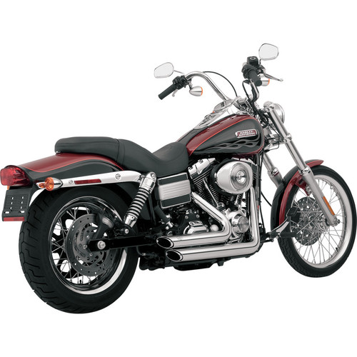Vance & Hines Shortshots Staggered Exhaust for 2006-2011 Harley Dyna - Chrome