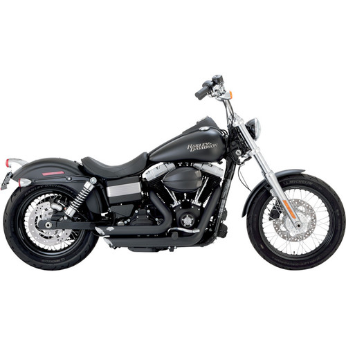 Vance & Hines Shortshots Staggered Exhaust for 2012-2017 Harley Dyna - Black
