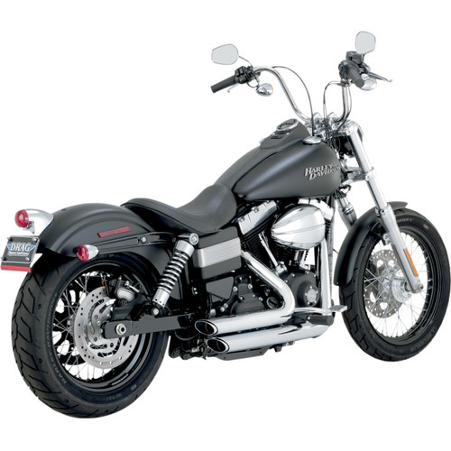 Vance & Hines Shortshots Staggered Exhaust for 2012-2017 Harley Dyna - Chrome