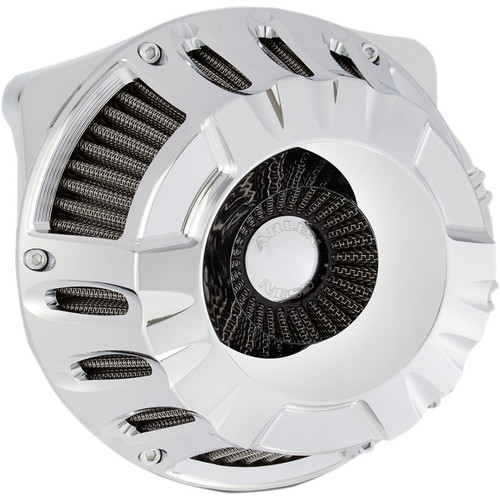 Arlen Ness Deep Cut Inverted Air Cleaner for 2017-2020 Harley M8 - Chrome