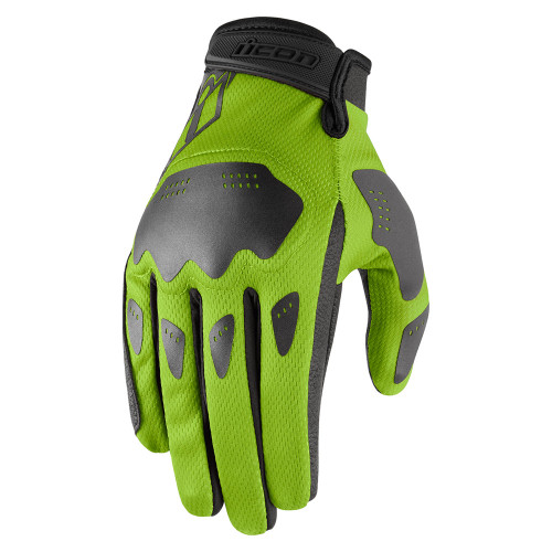 Icon Hooligan Gloves - Green