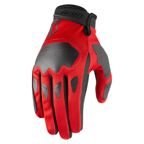 Icon Hooligan Gloves - Red