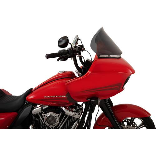 "Klock Werks 12"" Pro Touring Flare Windshield for 2015-2020 Harley Road Glide - Dark Smoke"