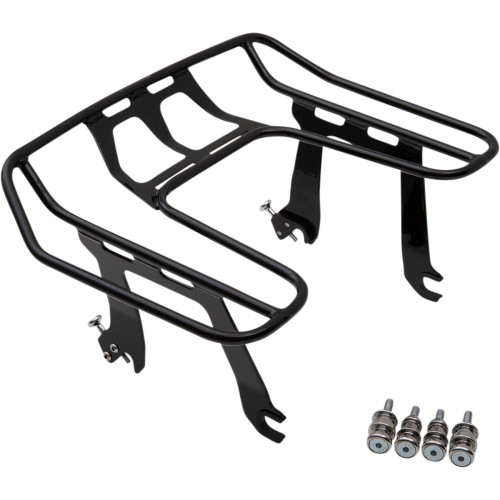 Cobra Big Ass Detachable Black Solo Luggage Rack for 2018-20 Harley Sport Glide