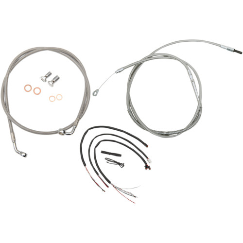 LA Choppers Cable Kit w/ Wiring for 2018-Up Harley Softail w/o ABS
