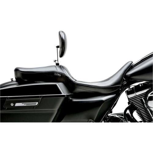 LePera Maverick Seat w/ Backrest for 2008-2020 Harley Touring - Smooth