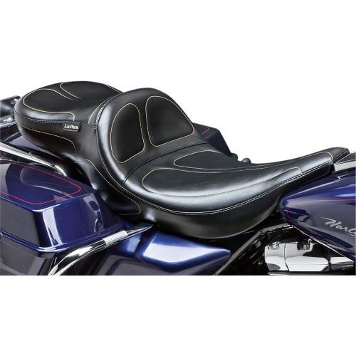 LePera Maverick Daddy Long Legs Seat for 1997-2001 Harley FLHT/FLTR - Stitch
