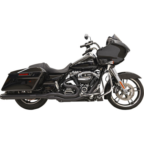 Bassani Road Rage 2-into-1 Exhaust System Straight Can for 2017-2020 Harley Touring - Black