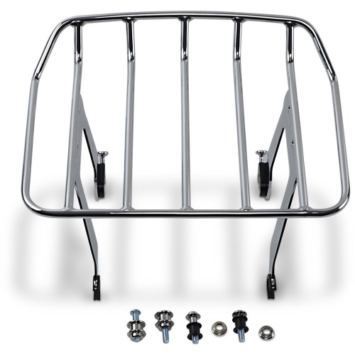 Cobra Big Ass Detachable Solo Luggage Rack for 2018-2020 Harley Softail Heritage Classic FLHC - Chrome