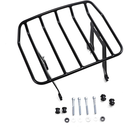 Cobra Big Ass Detachable Solo Luggage Rack for 2018-2020 Harley Softail Heritage Classic FLHC - Black