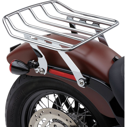 Cobra Big Ass Detachable Solo Luggage Rack for 2018-2020 Harley Softail FLSL/ FXBB - Chrome