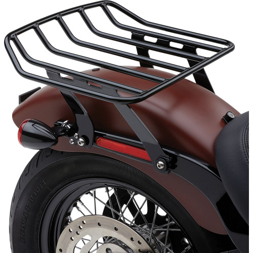 Cobra Big Ass Detachable Solo Luggage Rack for 2018-2020 Harley Softail FLSL/ FXBB - Black