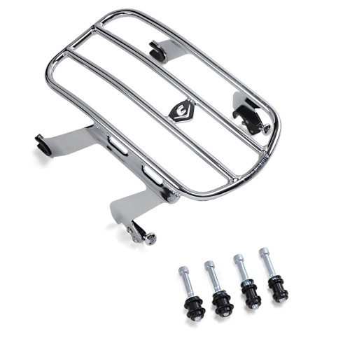 Cobra Detachable Solo Luggage Rack for 2018-2020 Harley Softail Heritage Classic FLHC - Chrome