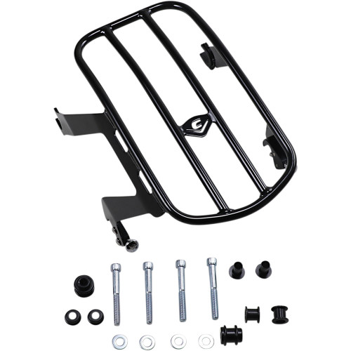 Cobra Detachable Solo Luggage Rack for 2018-2020 Harley Softail Heritage Classic FLHC - Black