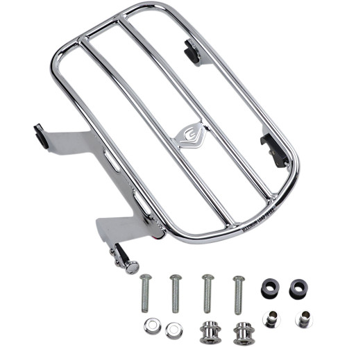 Cobra Detachable Solo Luggage Rack for 2018-2020 Harley Softail Deluxe FLDE - Chrome