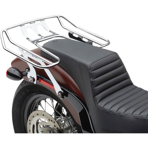 Cobra BA Wraparound Detachable Solo Luggage Rack for 2018-2020 Harley Softail FXBB/FLSL - Chrome