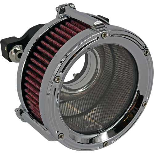 Trask Assault Charge High-Flow Air Cleaner for 1991-2020 Harley Sportster - Chrome