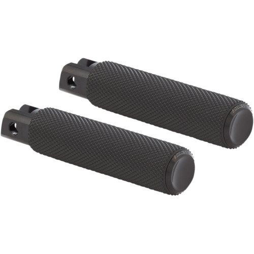 Arlen Ness Knurled Fusion Foot Pegs for Harley - Black