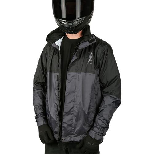 Thrashin Supply Waterproof Mission Windbreaker Riding Jacket - Black