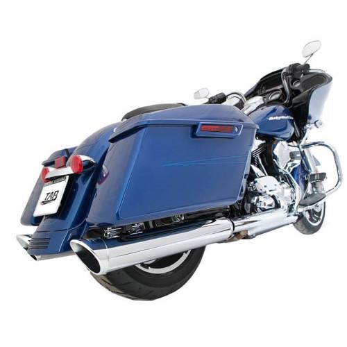 "TAB Performance 4"" B.A.M. Stick Slip-On Mufflers for 1995-2016 Harley Touring - Chrome"