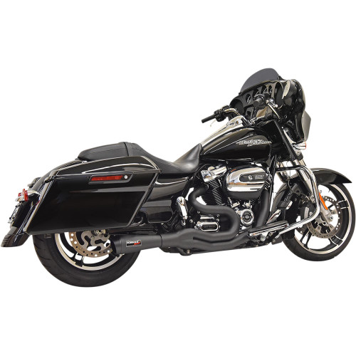 Bassani Road Rage II 2-1 Mid-Length Exhaust for 2017-2021 Harley Touring - Black