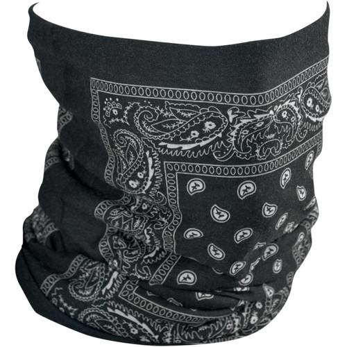 Zan Headgear Fleece-Lined Black Paisley Motley Tube