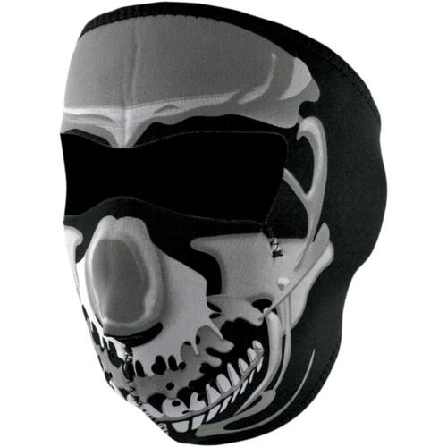 Zan Headgear Chrome Skull Face Mask