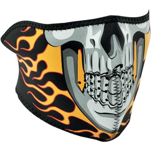 Zan Headgear Burning Skull Face Mask