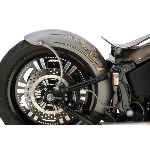 Custom Chrome 'Rigid-Style' Lucky Sucker Rear Fender for Harley Softail