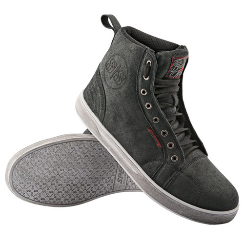 Speed and Strength Black Nine™ Leather Moto Shoes