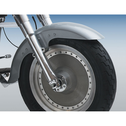 Custom Chrome Steel Front Fender for Harley Fat Boy Models