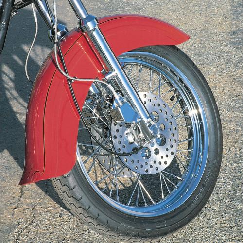 Custom Chrome Custom Skirted Fender with Flip for Harley