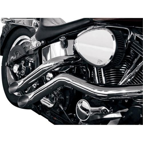LA Choppers Custom 187 Lazer Tip Cut Exhaust for 1986-2015 Harley Softail