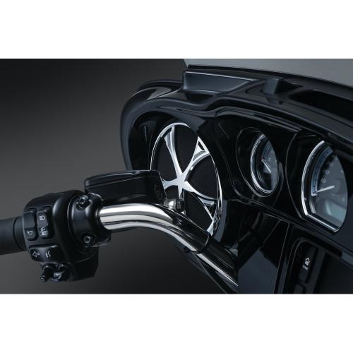 Kuryakyn Vortex Speaker Grills for 2014-2016 Harley Touring