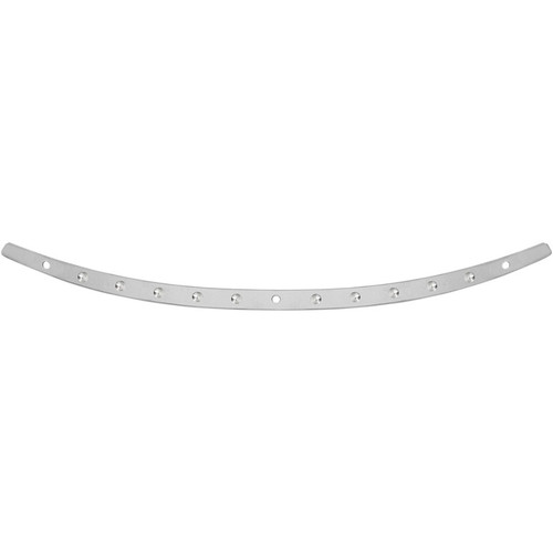Memphis Shades Dished Stainless Steel Windshield Trim for Harley Touring