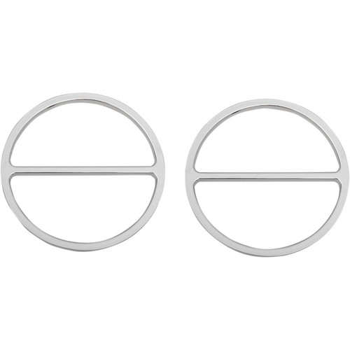 Drag Specialties Chrome Speaker Accents for 1996-2013 Harley Touring