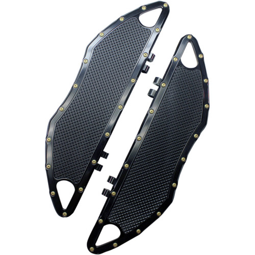 Carl Brouhard Bomber Series Driver Floorboards for Harley