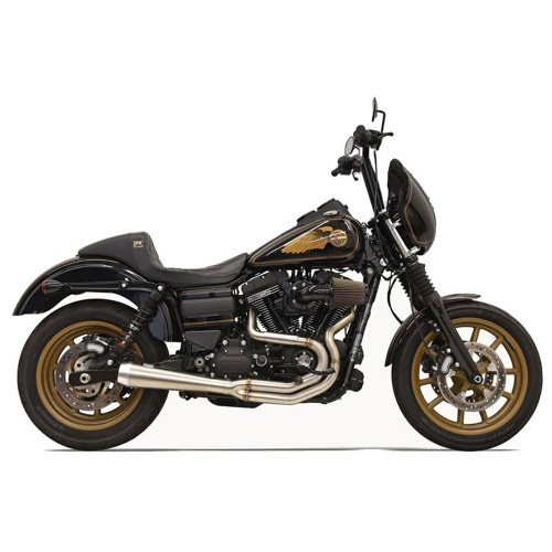 Bassani Greg Lutzka 2-Into-1 Stainless Exhaust for 1991-2017 Harley Dyna