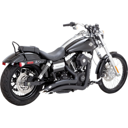 Vance & Hines Black Big Radius Exhaust for 2012-2017 Harley Dyna