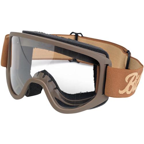 Biltwell Moto 2.0 Goggles - Script Chocolate