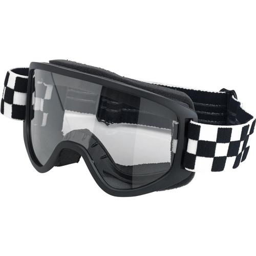 Biltwell Moto 2.0 Goggles - Checkers Black